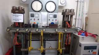 2x150 ton end loaded Piston Cylinder Presses